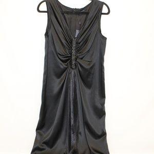NWT! Magaschoni Black Embellished Silk Dress
